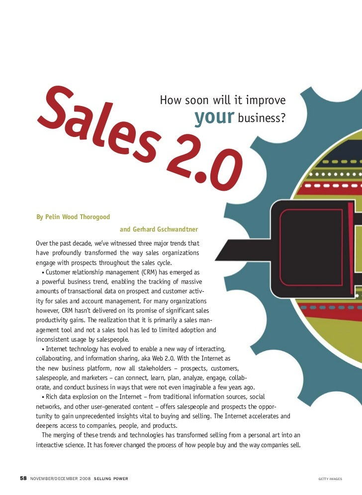 Sales 2.0  features