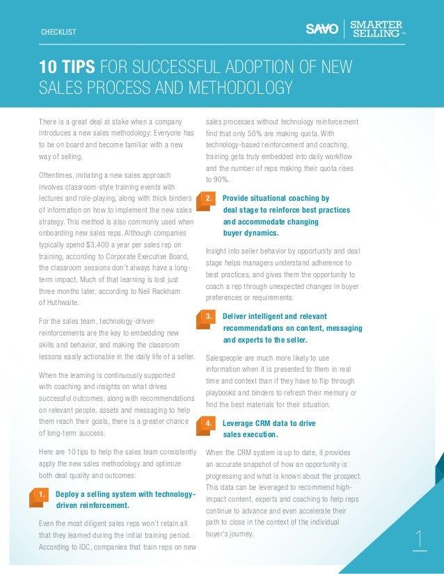SAVO Sales Adoption Process