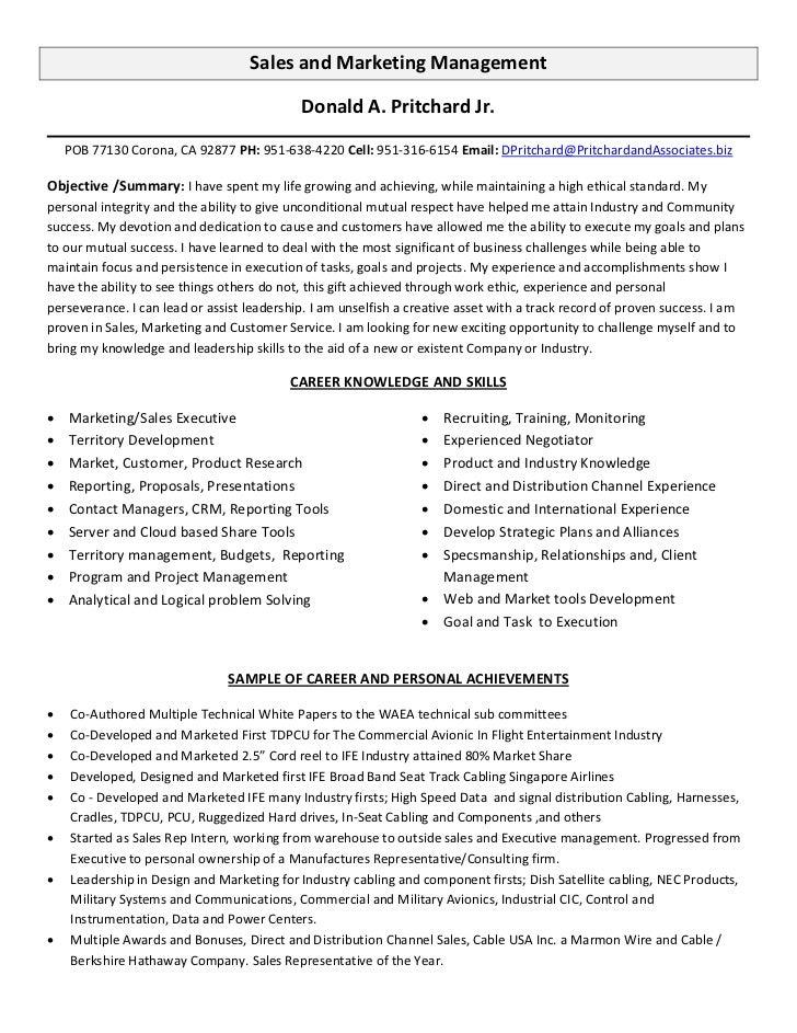 resume sale representative