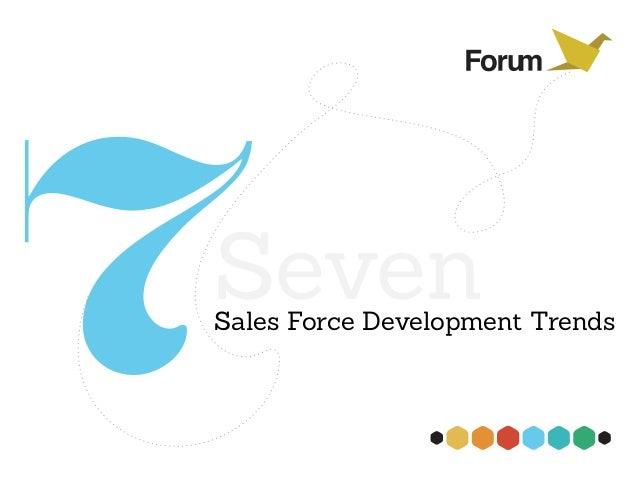 Seven Sales Force Development Trends