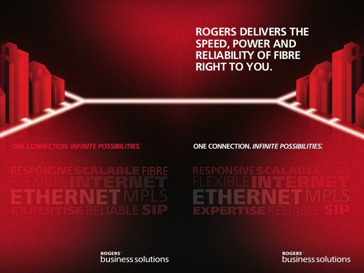 ROGERS DELIVERS THESPEED, POWER ANDRELIABILITY OF FIBRERIGHT TO YOU.
