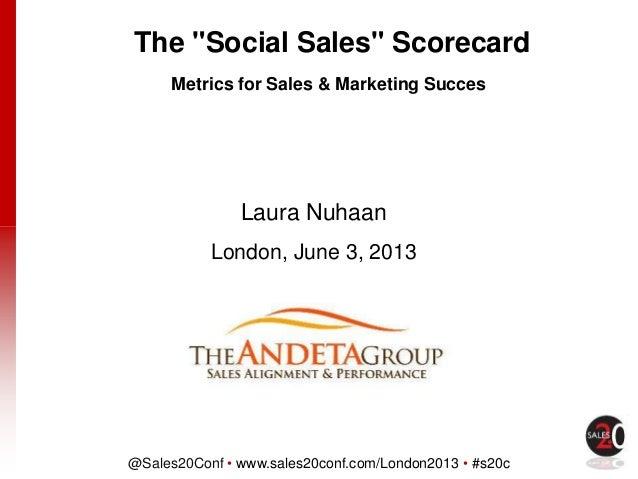 @Sales20Conf • www.sales20conf.com/London2013 • #s20cClick to edit Master title styleLaura NuhaanLondon, June 3, 20132013T...