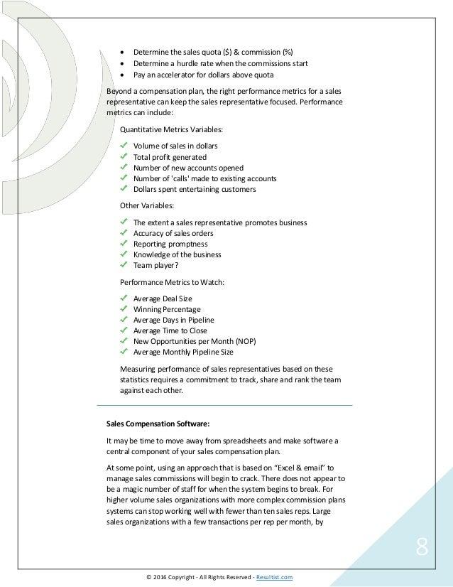 Sales Compensation Agreement Images Agreement Letter Format