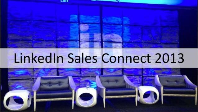 LinkedIn Sales Connect 2013