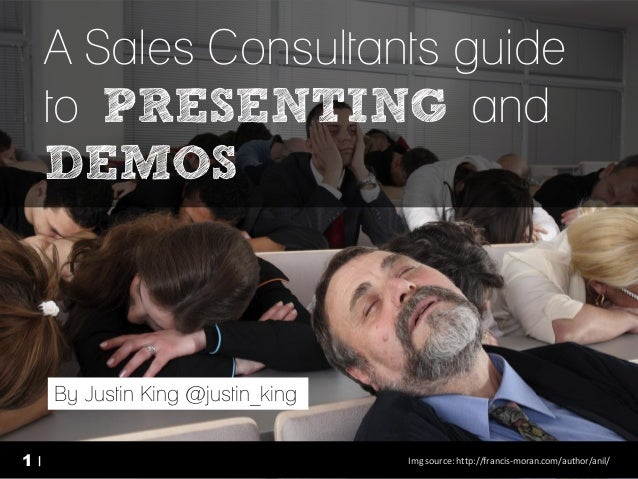 a Sales Consultants guide to presenting and demos