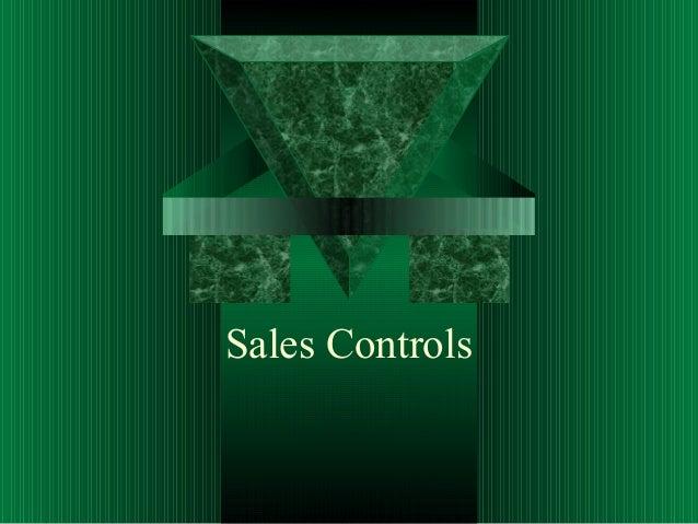Sales Controls
