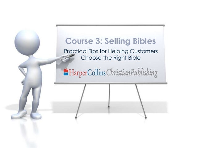 Course 3: Bible Selling