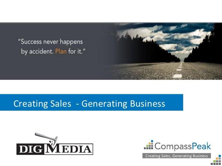 Creating Sales - Generating Business                               Creating Sales, Generating Business