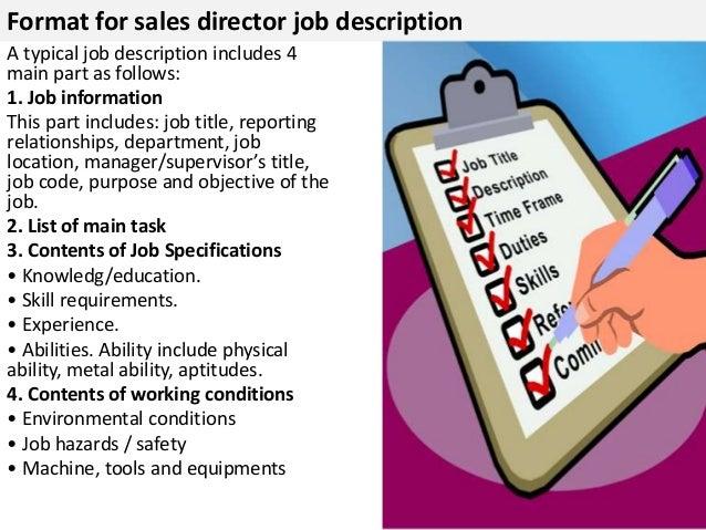 sales director job descriptioninfluencing and negotiation skills    format for  s director job description