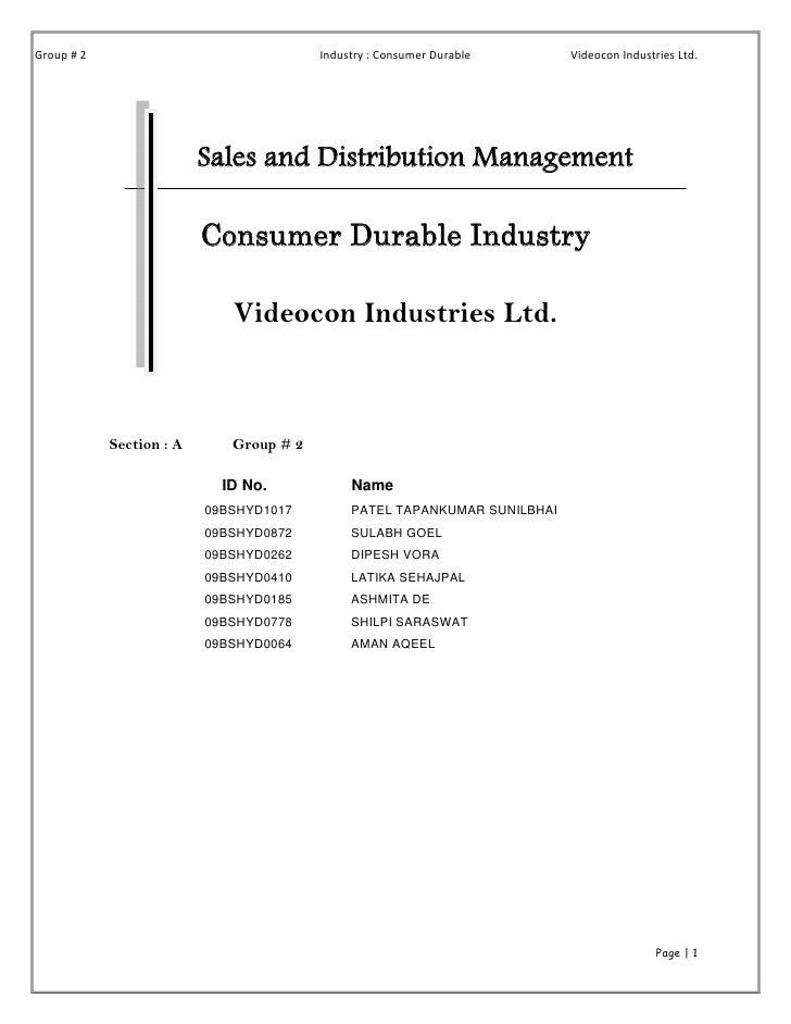 Group#2                                Industry:ConsumerDurable      VideoconIndustriesLtd.                     ...