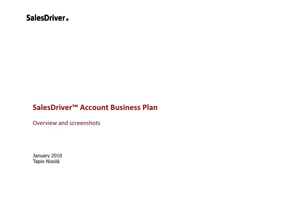 strategic account sales plan template .