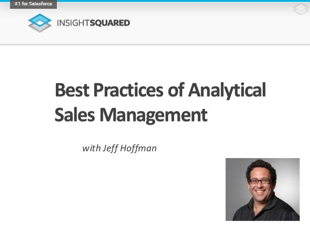 Best Practices of Analytical Sales Management with Jeff Hoffman