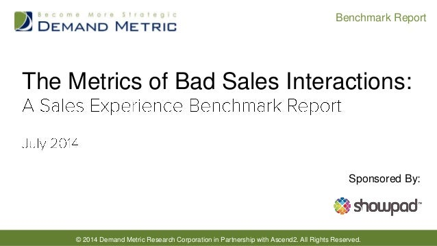 © 2014 Demand Metric Research Corporation in Partnership with Ascend2. All Rights Reserved. Benchmark Report The Metrics o...