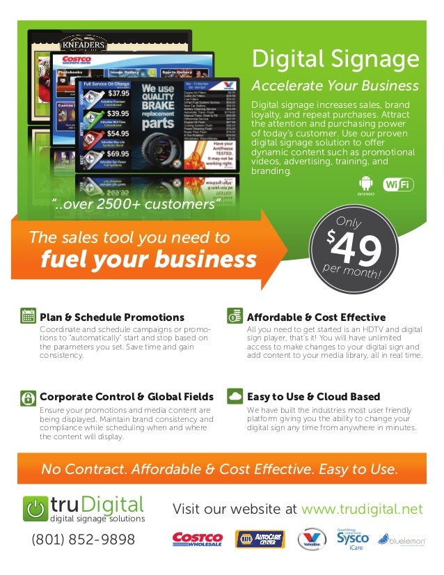 Accelerate Your Business with Digital Signage