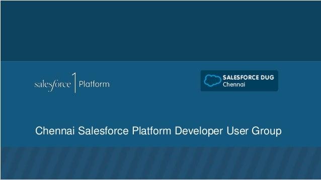 Chennai Salesforce Platform Developer User Group