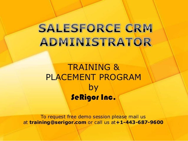 Salesforce CRM training and Placement Program