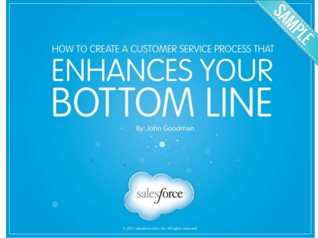 Salesforce Customer Service eBook Design Sample