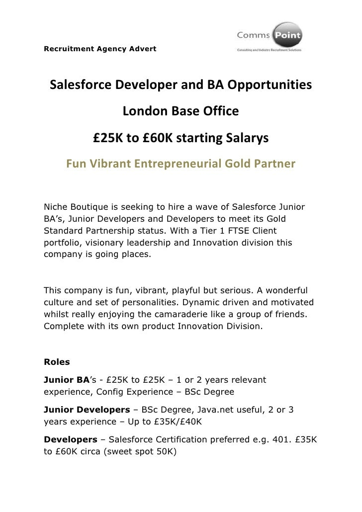 Salesforce Developer Jobs - London