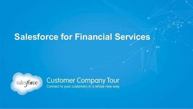 Salesforce for Financial Services