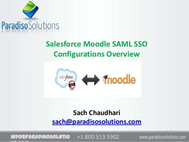 Moodle Salesforce Integration based on SAML