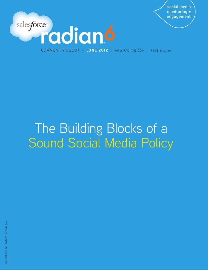 Building Blocks of a Sound Social Media Policy