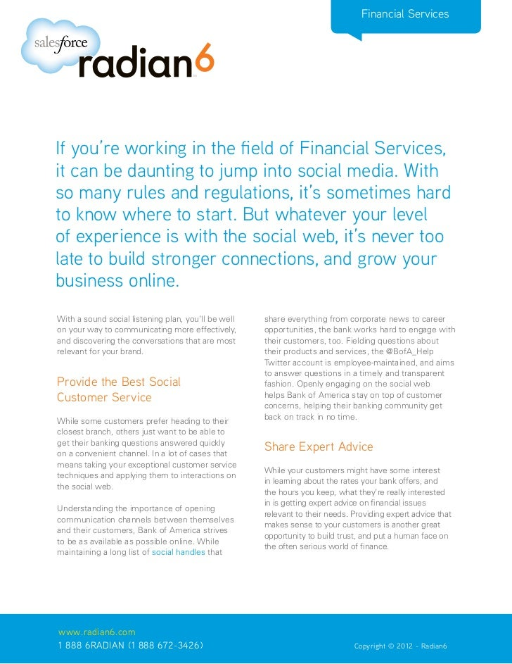 Financial Services Uses the Social Web to Provide Optimal Customer Service