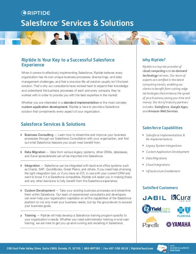 Salesforce® Services & Solutions           Riptide Is Your Key to a Successful Salesforce                                 ...