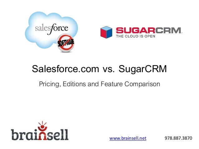 Salesforce vs sugar brain sell