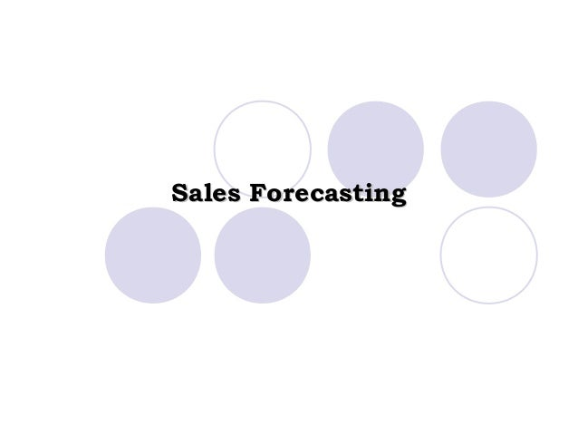 Sales ForecastingSales Forecasting