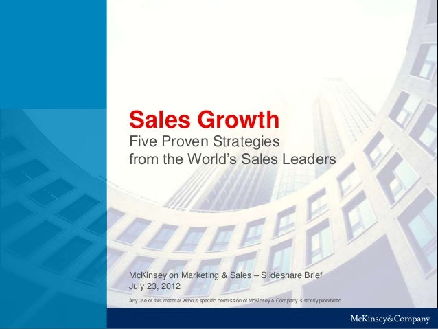 Sales Growth - 5 proven strategies from the World's Sales Leaders