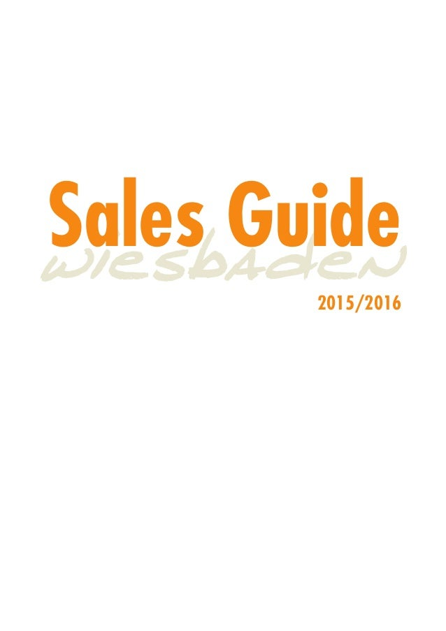 Sales Guide 2015/2016