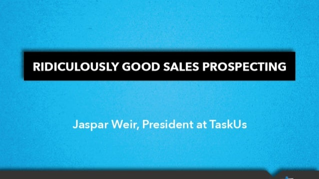 Jaspar Weir (President, Taskus) - Outsourcing The Sales Process