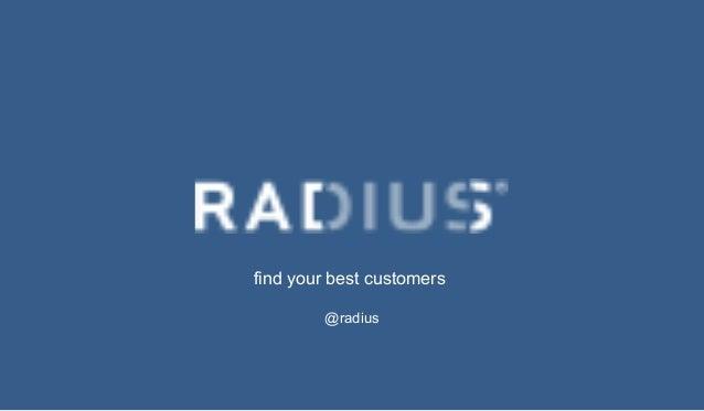 find your best customers @radius