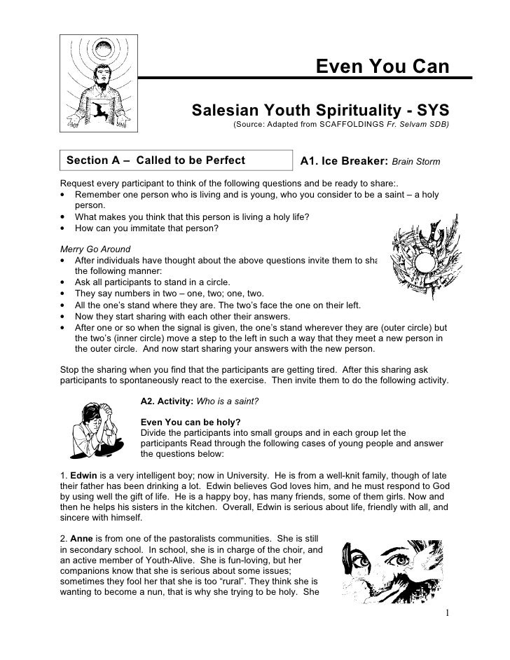 Salesian youth ministry saffoldings