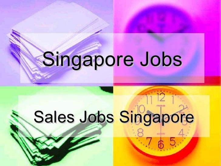 Sales Jobs Singapore-Sales Representative