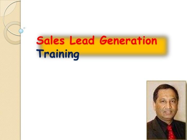 Sales Lead GenerationTraining