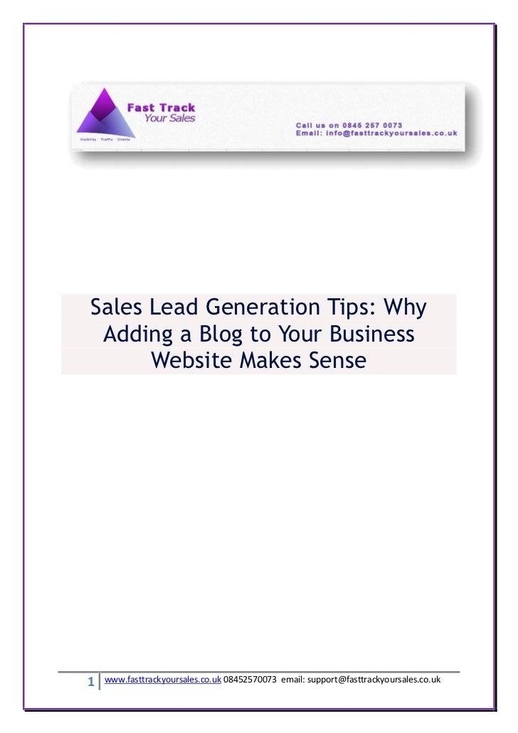 Sales lead generation tips