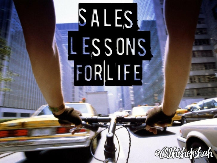 Sales Lessons for Life