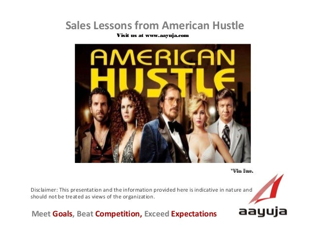 Sales Lessons from American Hustle