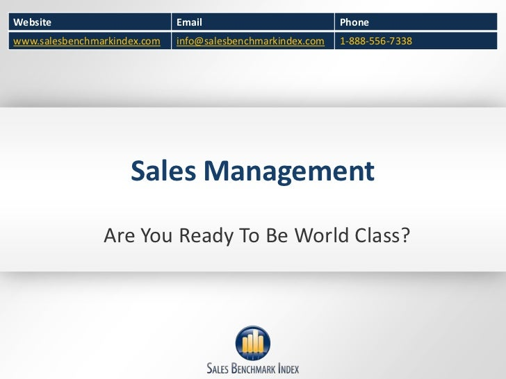 Sales Management<br />Are You Ready To Be World Class?<br />