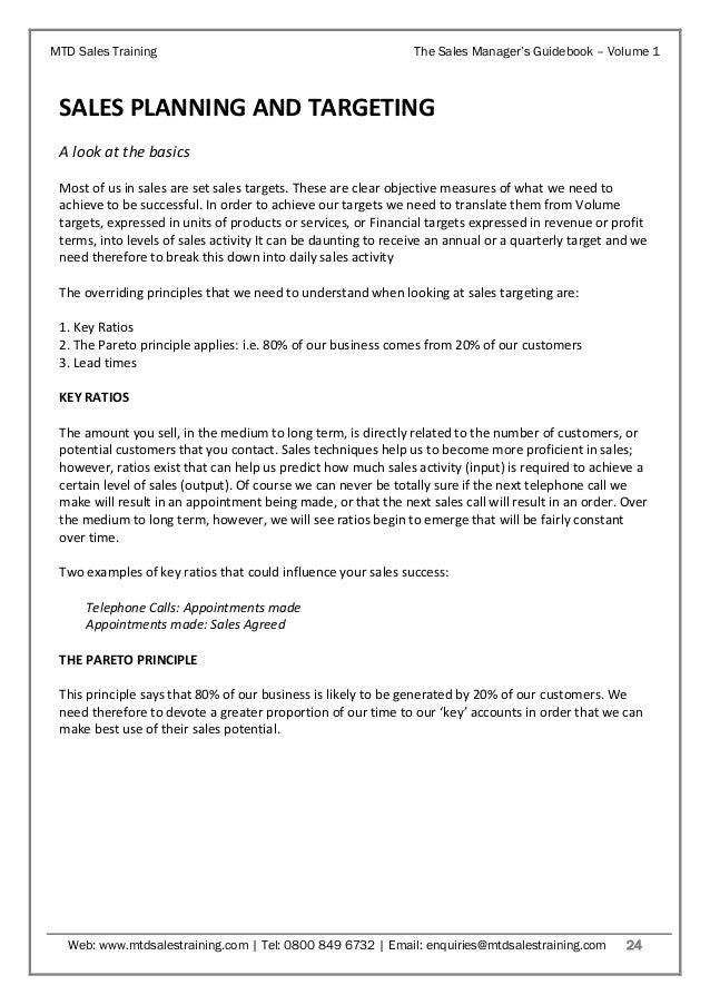 Sales Manager s Guidebook Volume 1 Sales Planning amp Target Setting
