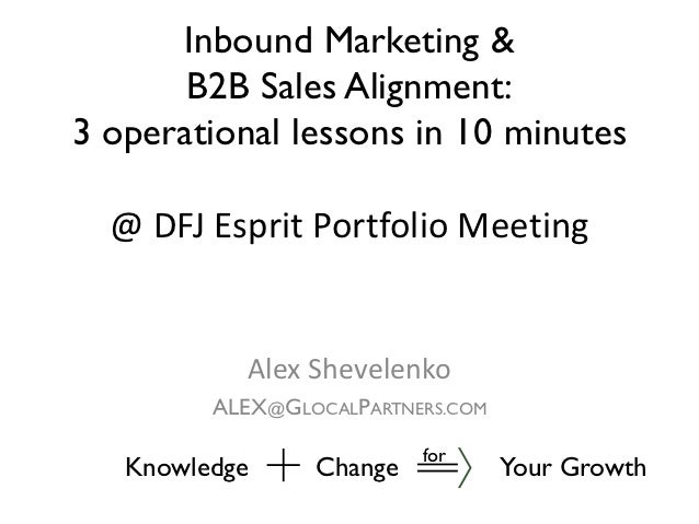 Sales and Marketing Alignment: Enterprise B2B Case Study
