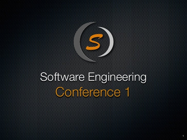 Software Engineering   Conference 1                          1