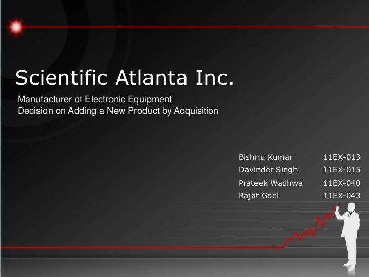 Sales Mgmt - Scientific Atlanta Inc PPT