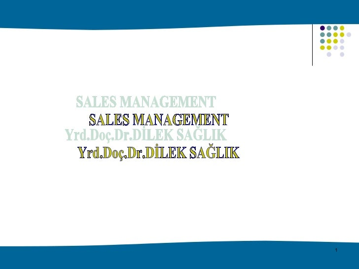 Sales Management Week 2
