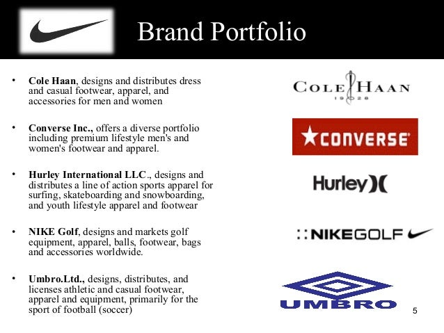ppt on brand portfolio of nike