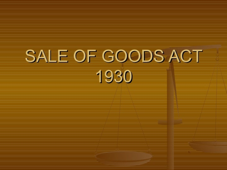 Sales of good_act