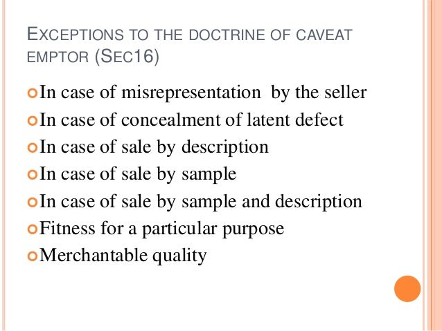 doctrine of caveat emptor Caveat emptor doctrine keyword after analyzing the system lists the list of keywords related and the list of websites with related content, in addition you can see which keywords most interested customers on the this website.