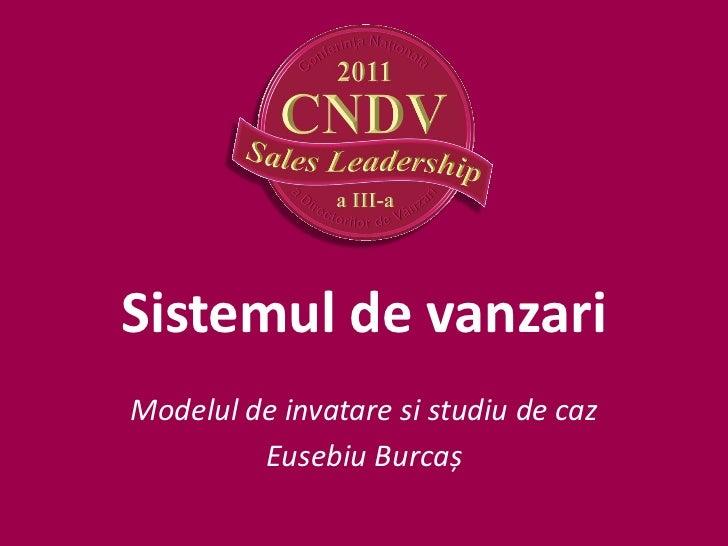 Sistemul de vanzariModelul de invatare si studiu de caz         Eusebiu Burcaș
