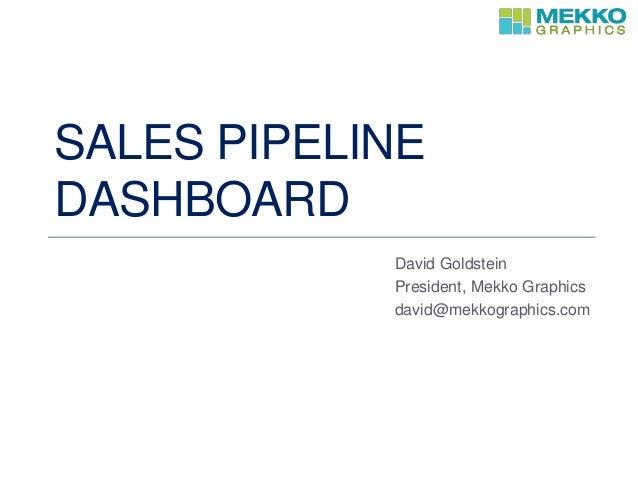 SALES PIPELINE DASHBOARD David Goldstein President, Mekko Graphics david@mekkographics.com